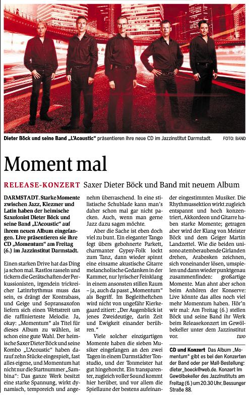 Presse-Artikel CD-Veröffentlichung 2014-06-05